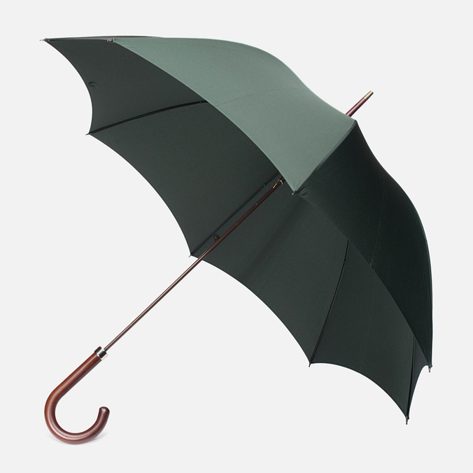 Зонт-трость Fox Umbrellas GT2 Dark Brown Matt Handle Dark Green