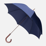 Зонт Fox Umbrellas GT2 Dark Brown Matt Handle French Navy фото- 0