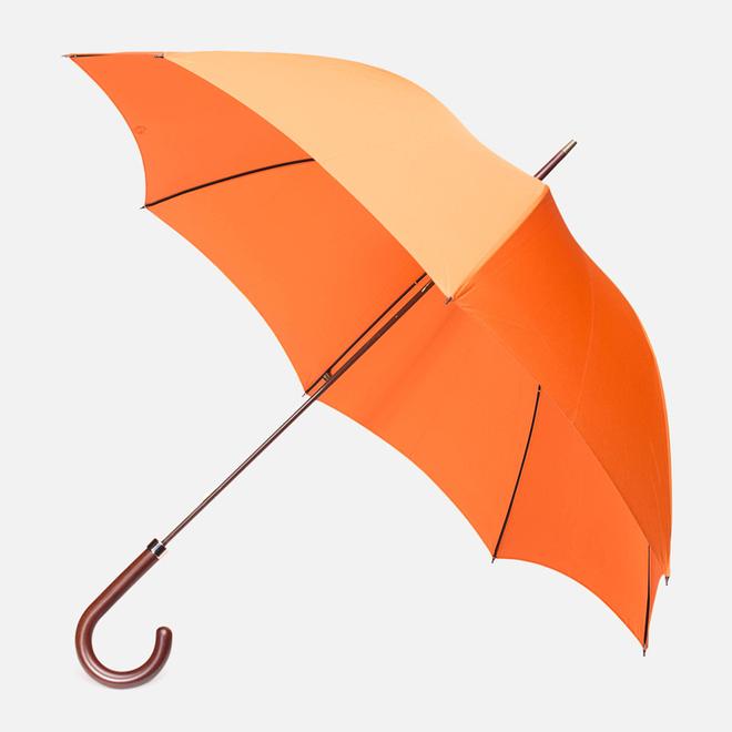 Зонт-трость Fox Umbrellas GT2 Dark Brown Matt Handle Orange
