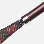 Зонт-трость Fox Umbrellas GT2 Dark Brown Matt Handle Red/Black фото- 3