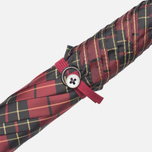 Зонт-трость Fox Umbrellas GT2 Dark Brown Matt Handle Red/Black фото- 4