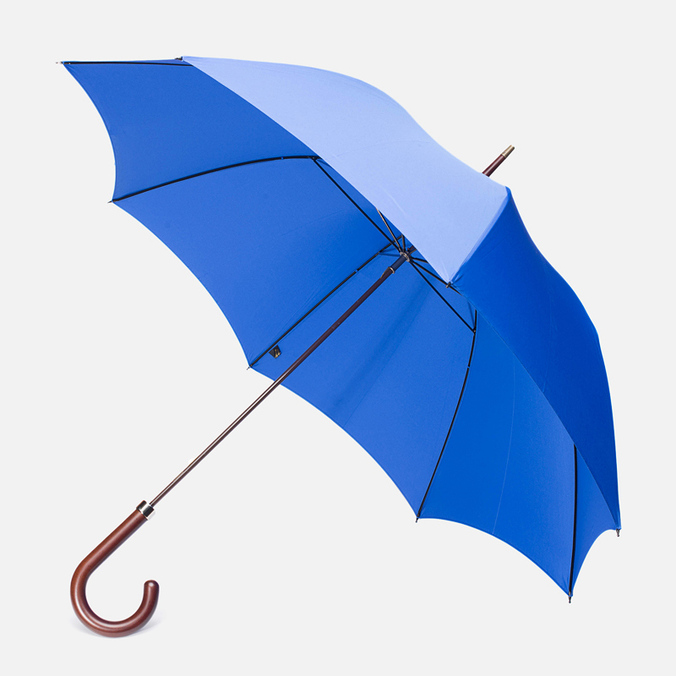 Fox Umbrellas GT2 Dark Brown Matt Handle Umbrella Royal Blue