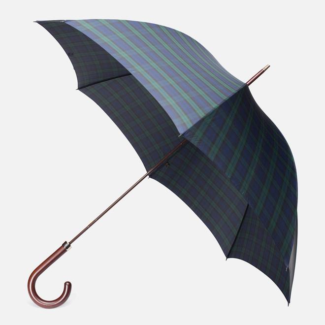 Зонт Fox Umbrellas GT2 Dark Brown Matt Handle Stewart Tartan