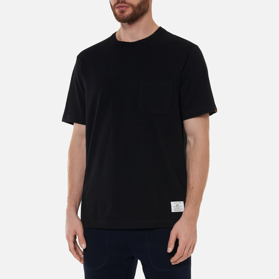 Мужская футболка Alpha Industries Essential Pocket Black