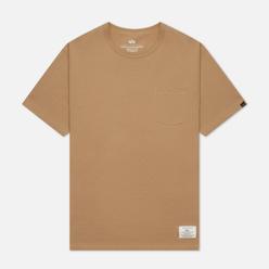 Мужская футболка Alpha Industries Essential Pocket Vintage Khaki
