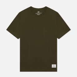 Мужская футболка Alpha Industries Essential Pocket Olive