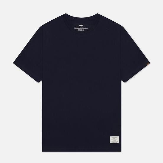Мужская футболка Alpha Industries Essential Blood Chit Replica Blue