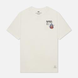Мужская футболка Alpha Industries NASA Columbia White