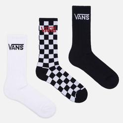 Комплект носков Vans Classic Crew 3-Pack Black/Checkerboard/White