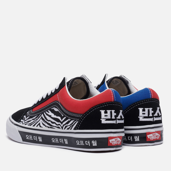 Кеды Vans Old Skool Korean Typography Racing Red/True Blue