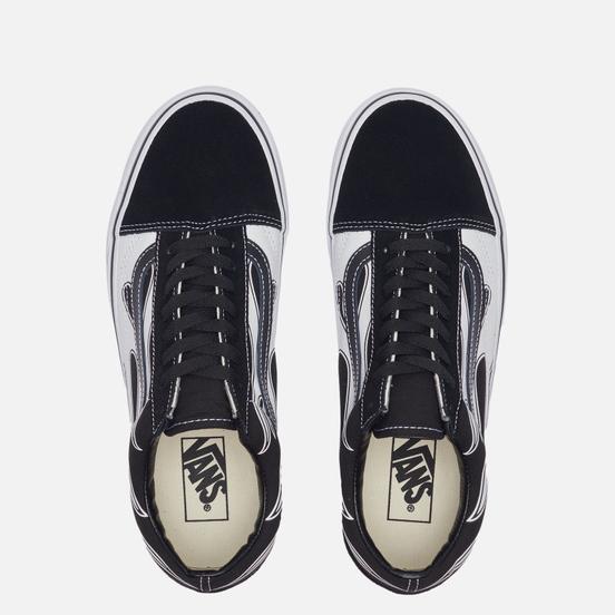 Мужские кеды Vans Old Skool Flame Black/White