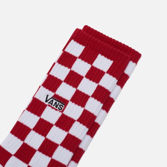 Носки Vans Checkerboard Crew Red/White Check