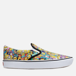 Мужские кеды Vans x The Simpsons UA Slip-On ComfyCush Springfield Yellow/White