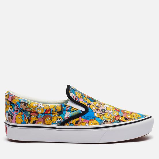 Мужские кеды Vans x The Simpsons UA Slip-On ComfyCush Springfield Yellow/White