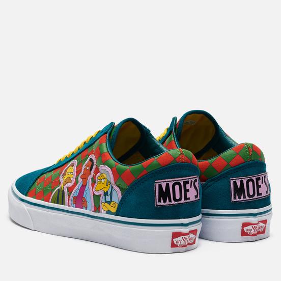 Кеды Vans x The Simpsons UA Old Skool Moe's Green/Yellow/White