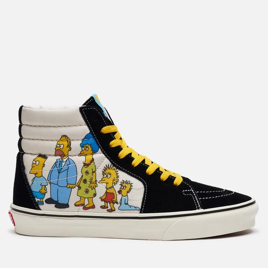 Мужские кеды Vans x The Simpsons UA SK8-Hi 1987-2020 Black/White/Blue