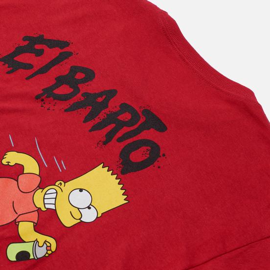 Мужской лонгслив Vans x The Simpsons El Barto Red