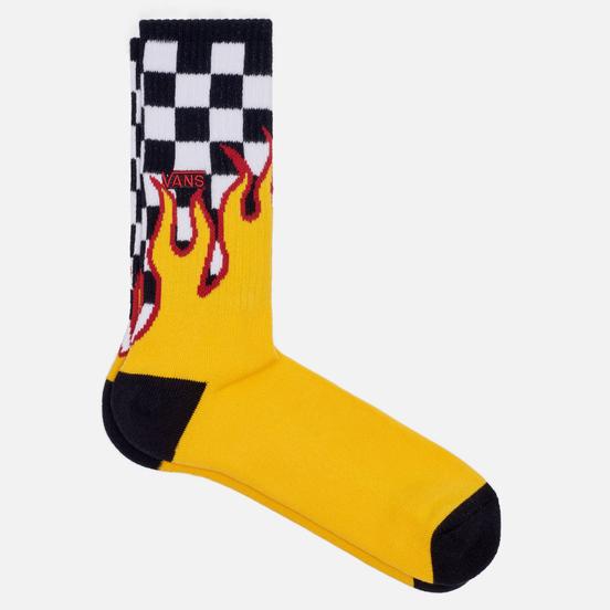 Носки Vans Flame Check Crew Black/White Check/Flame