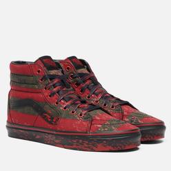 Кеды Vans x Horror Sk8-Hi Freddy Krueger Red/Black