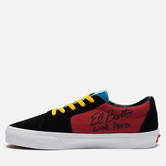 Мужские кеды Vans x The Simpsons UA SK8-Low El Barto Black/Red/Blue