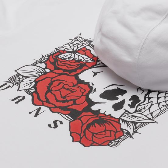 Мужская толстовка Vans Rose Bed Fleece Hoodie White