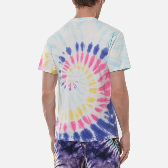 Мужская футболка Vans Drop V Spiral Tie Dye Rainbow Spectrum Tie Dye
