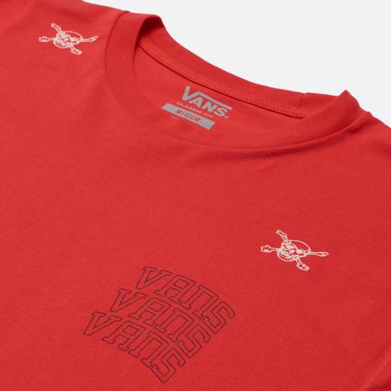 Мужская футболка Vans New Varsity High Risk Red