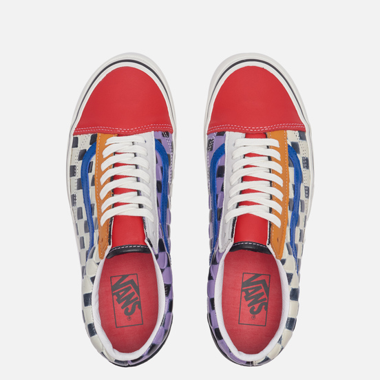Кеды Vans Old Skool 36 DX Anaheim Factory Leather Check/Multi/Red