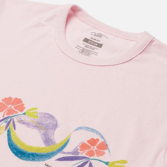 Мужская футболка Vans x Chris Johanson Floral Powder Pink