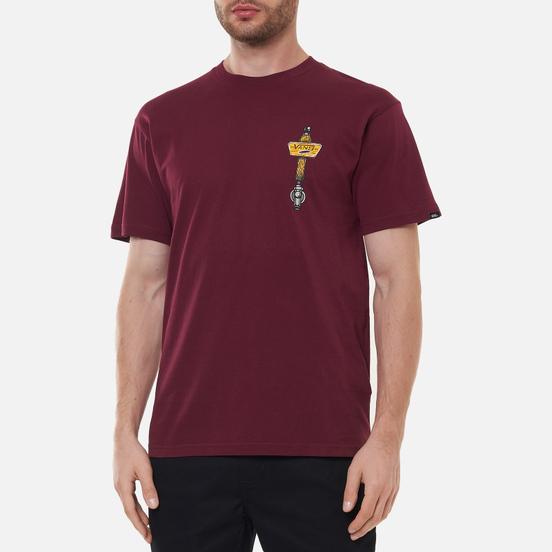 Мужская футболка Vans Off The Wall Tavern Burgundy