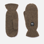Hestra Basic Wool Mittens Brown photo- 0