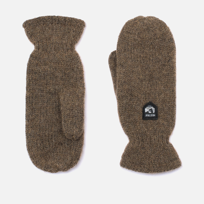 Hestra Basic Wool Mittens Brown