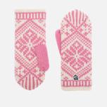 Женские варежки Hestra Nordic Wool Pink/White фото- 0