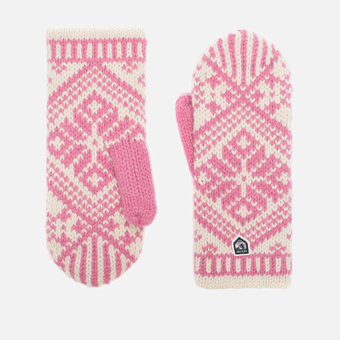 Женские варежки Hestra Nordic Wool Pink/White