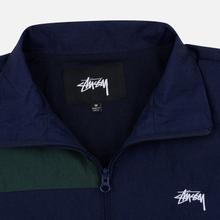 Мужская куртка ветровка Stussy Panel Track Navy фото- 1