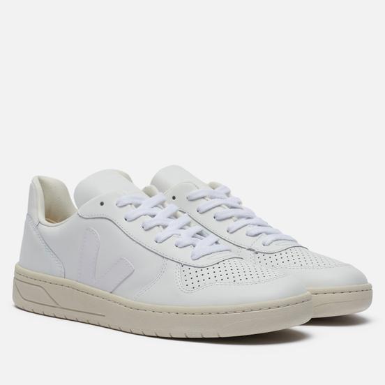 Мужские кроссовки VEJA V-10 Leather Extra White
