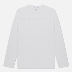 Мужской лонгслив Comme des Garcons SHIRT Logo Print Back White
