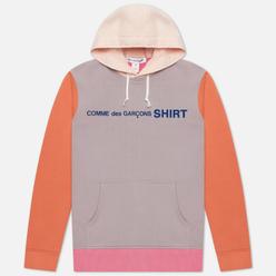 Мужская толстовка Comme des Garcons SHIRT Color Block Hoodie Pink/Mix