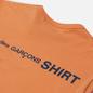 Мужской лонгслив Comme des Garcons SHIRT Color Block Crew Neck Orange/Mix фото - 2