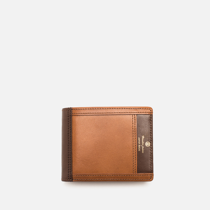 Master-Piece Flat Leather Wallet Camel