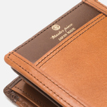 Master-Piece Flat Leather Wallet Camel photo- 5
