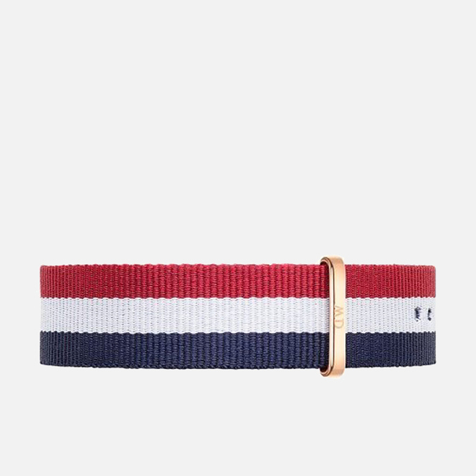 Ремешок для часов Daniel Wellington Classic Cambridge 20mm Blue/White/Red/Gold