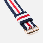 Daniel Wellington Classic Canterbury Watch Strap Blue/White/Red/Gold photo- 2