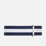 Daniel Wellington Classic Glasgow Women's Watch Strap Blue/White/Silver photo- 0