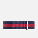 Ремешок для женских часов Daniel Wellington Classic Oxford 18mm Blue/Red/Gold фото- 0