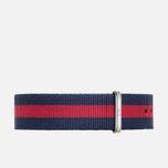Ремешок для женских часов Daniel Wellington Classic Oxford Blue/Red/Silver фото- 0