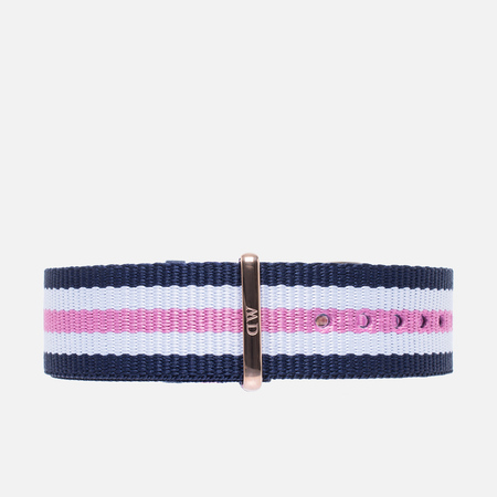 Ремешок для женских часов Daniel Wellington Classic Southampton 18mm Blue/White/Pink/Gold