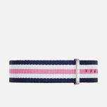 Ремешок для женских часов Daniel Wellington Classic Southampton Blue/White/Pink/Silver фото- 0