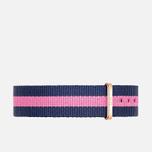 Ремешок для женских часов Daniel Wellington Classic Winchester 18mm Blue/Pink/Gold фото- 0