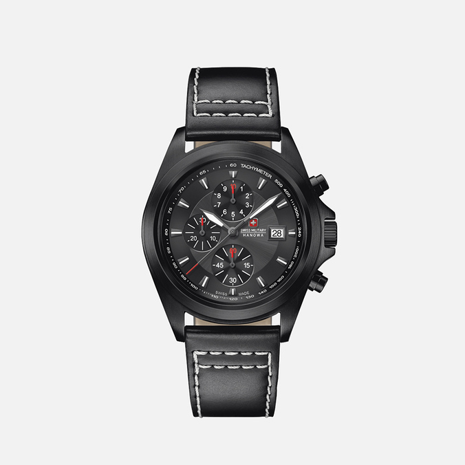 Мужские наручные часы Swiss Military Hanowa Infantry Chrono Black